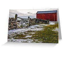 Shakertown Red Barn Greeting Card