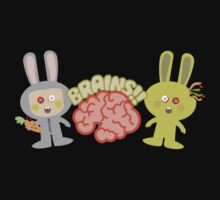 cute kawaii zombie bunny rabbit brains by BigMRanch