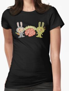 cute kawaii zombie bunny rabbit brains T-Shirt