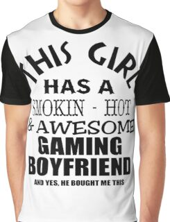 This girl has a smokin hot awesome gaming boyfriend and yes he bough me this black ink Graphic T-Shirt