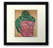 Ethnic collection 2 posters,prints and cards case buda head Framed Print