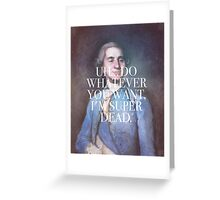 should we honor our treaty, king louis' head? Greeting Card