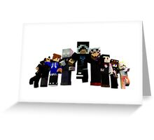 Minercraft - Team Leaders Greeting Card