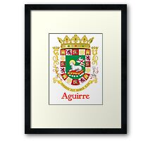 Aguirre Shield of Puerto Rico Framed Print