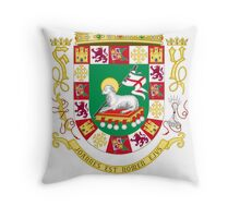 Aguirre Shield of Puerto Rico Throw Pillow