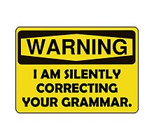 Warning Grammar by AmazingMart