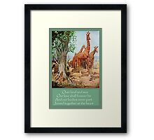 Over Land and Sea. Framed Print