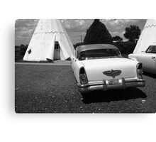 Route 66 Wigwam Motel and Classic Car Canvas Print