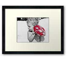 red challenge Framed Print
