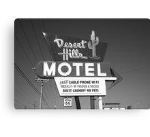 Route 66 - Desert Hills Motel Canvas Print