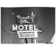Route 66 - Desert Hills Motel Poster