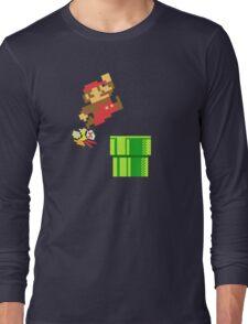 Mario vs. Flappy Bird Long Sleeve T-Shirt