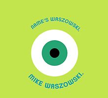 Monsters Inc. - Mike Waszowski (Minimal - iPhone - Green) by thefrayedfiles
