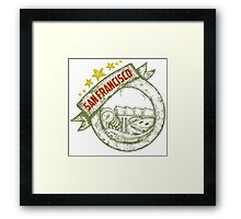 San Francisco, california badge hand draw Framed Print