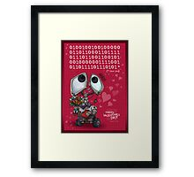 Robot Valentine Framed Print