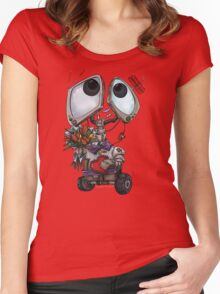 Robot Valentine Women's Fitted Scoop T-Shirt