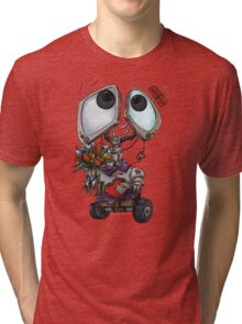 Robot Valentine Tri-blend T-Shirt