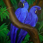 """Hyacinth Macaws"" by Melanie Froud"