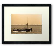 Fishing Boat, Portland, Maine Framed Print