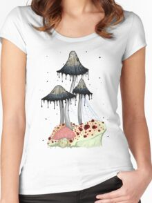 Drippy Fungi Women's Fitted Scoop T-Shirt