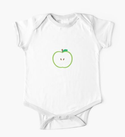 Green Apple Slice One Piece - Short Sleeve