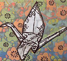 Origami Crane by Leon Fernandes
