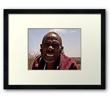 Elder Masai Warrior Framed Print