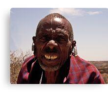 Elder Masai Warrior Canvas Print