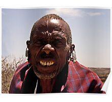 Elder Masai Warrior Poster