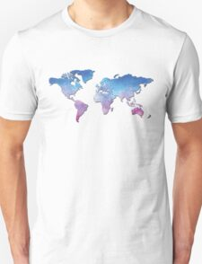 Watercolor Worldmap T-Shirt