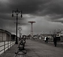 Winter,the Ghosts of Summer linger (Coney Island,Brooklyn) by smilku