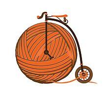 Orange Yarn Farthing by jarodface