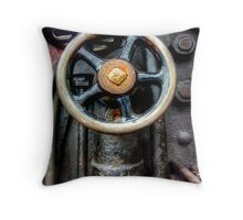 Steam Engine Wheel Throw Pillow
