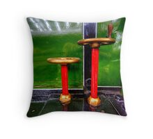 Steam Engine Wheels Throw Pillow