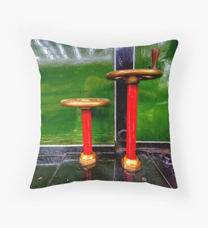Steam Engine Wheels Throw Pillow