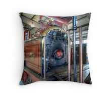 The Furness Steam Engine Throw Pillow
