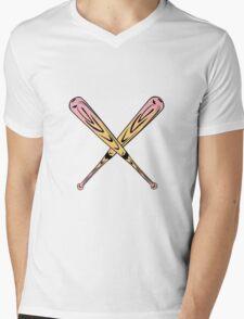 Pink Bats Mens V-Neck T-Shirt