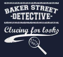 Baker Street Detective (White) Kids Tee