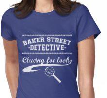 Baker Street Detective (White) Womens Fitted T-Shirt