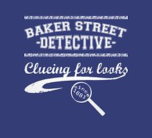 Baker Street Detective (White) Womens Fitted T-Shirt