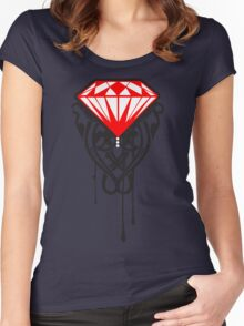 diamond rose Women's Fitted Scoop T-Shirt