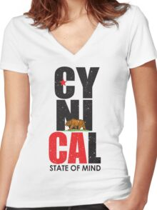 CyniCAl Women's Fitted V-Neck T-Shirt