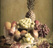 Vintage Fruit , Still life . by Irene  Burdell