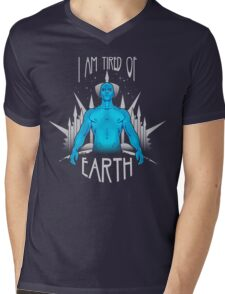 Tired of Earth Mens V-Neck T-Shirt