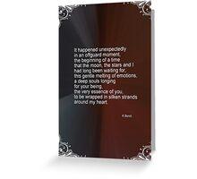 Love Poem For My Valentine Greeting Card