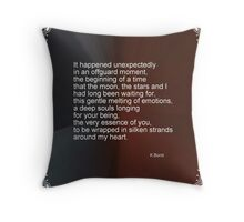 Love Poem For My Valentine Throw Pillow