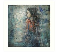 I gain the wind of my thoughts... Art Print