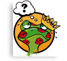 The Frog King with a question mark  Canvas Print