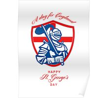 Happy St George A Day for England Greeting Card Poster