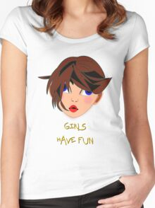 Girls Have Fun T-shirt 1 Women's Fitted Scoop T-Shirt